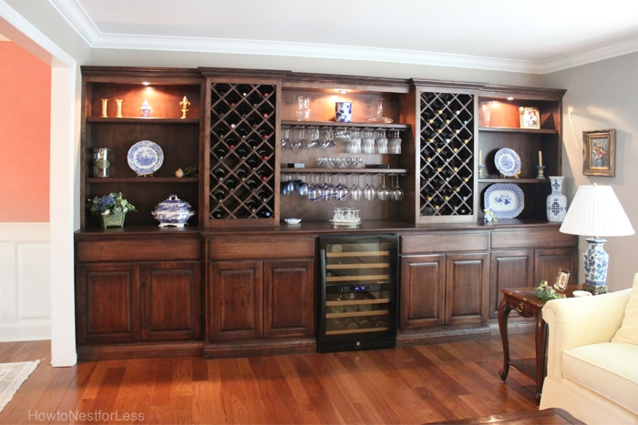 Dining Room Wall Unit Gorgeous Living Room Wine Cabinet Built Ins  How To Nest For Less™ Decorating Design