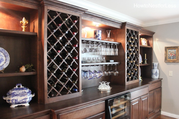 wine cabinet built ins