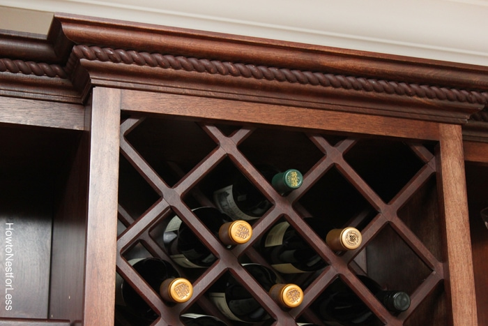 wine cabinet wall unit built ins