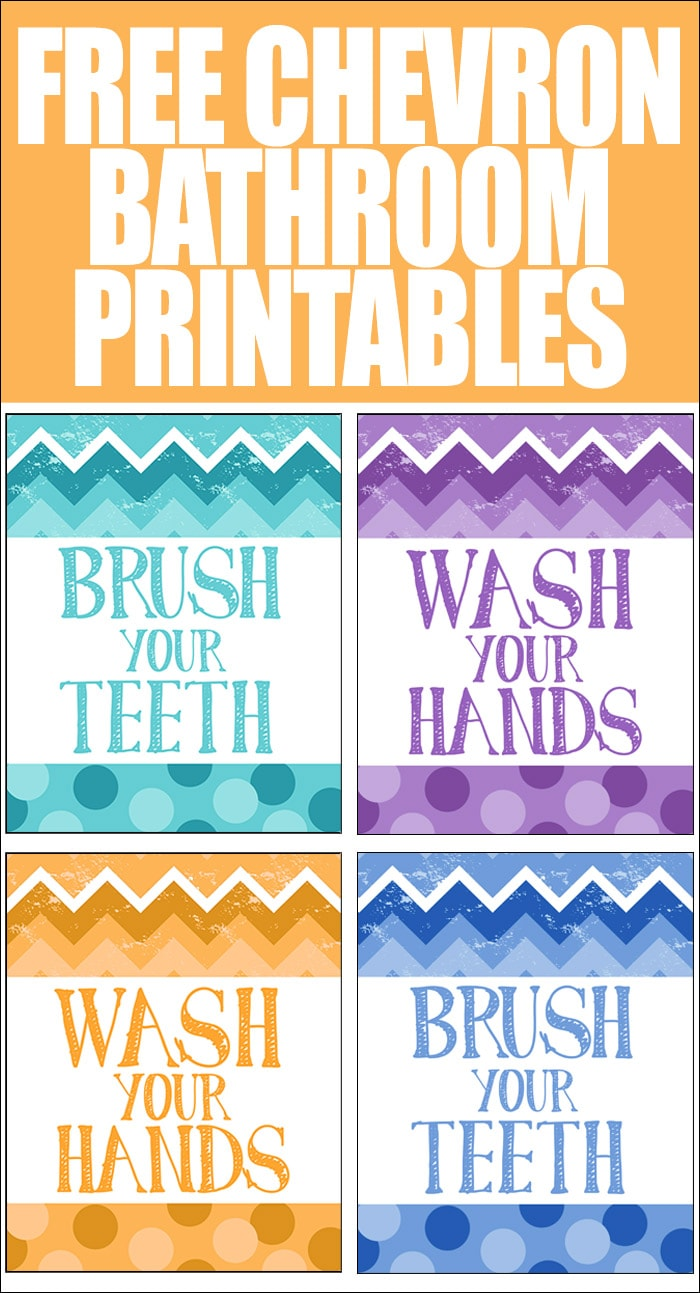 FREE CHEVRON BATHROOM PRINTABLES listerine