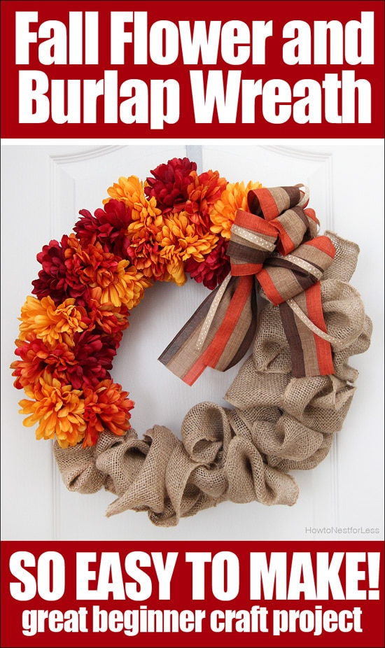fall flower burlap wreath