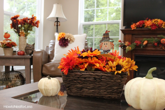 fall decorating budget decor decorations autumn interior decorate dollar general less nest wicker updates cute flowers affordable prep painting inspired