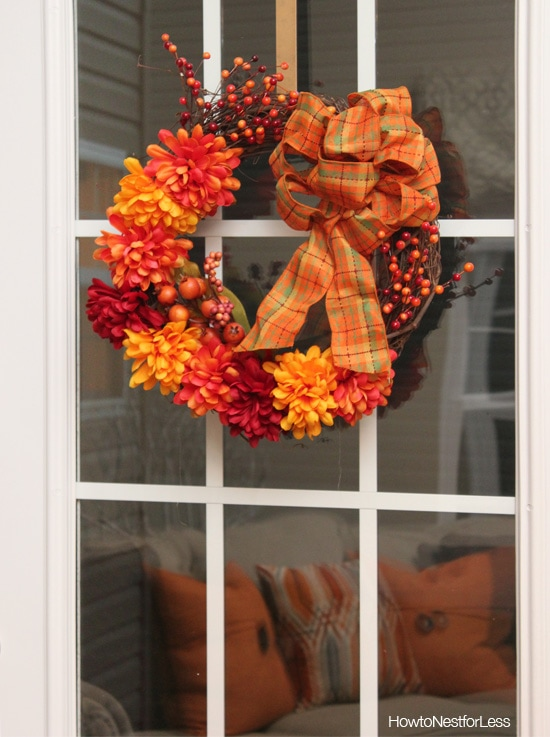 fall home decor wreath