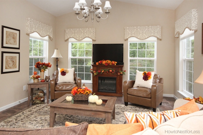 Fall decorating on a budget how to nest for less for How decorate family room