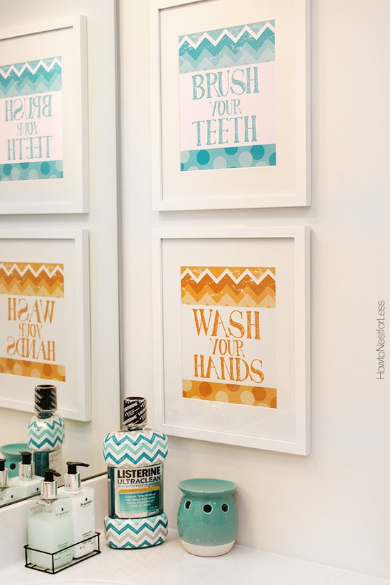free chevron bathroom printable