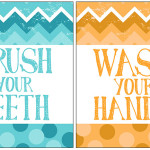 free chevron bathroom printables
