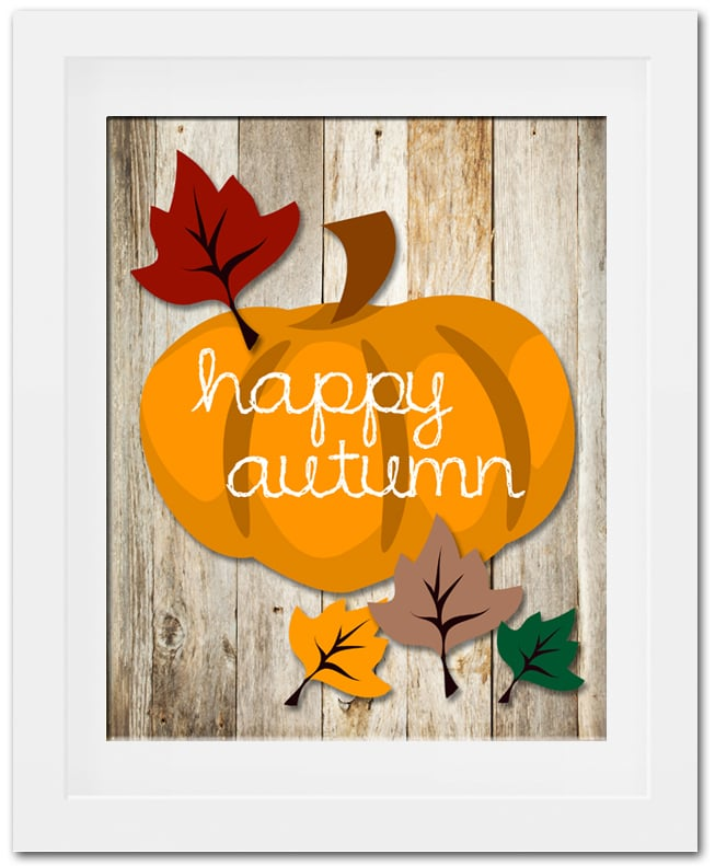 free fall pumpkin printable