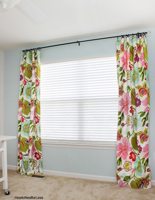 how to make no sew curtain panels