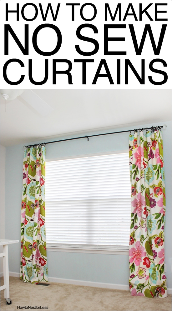 How To Make No Sew Curtains How To Nest For Less