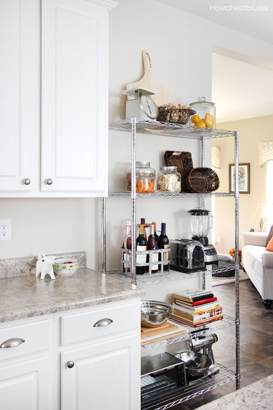 Kitchen industrial shelving how to nest for less for Off the shelf kitchen units