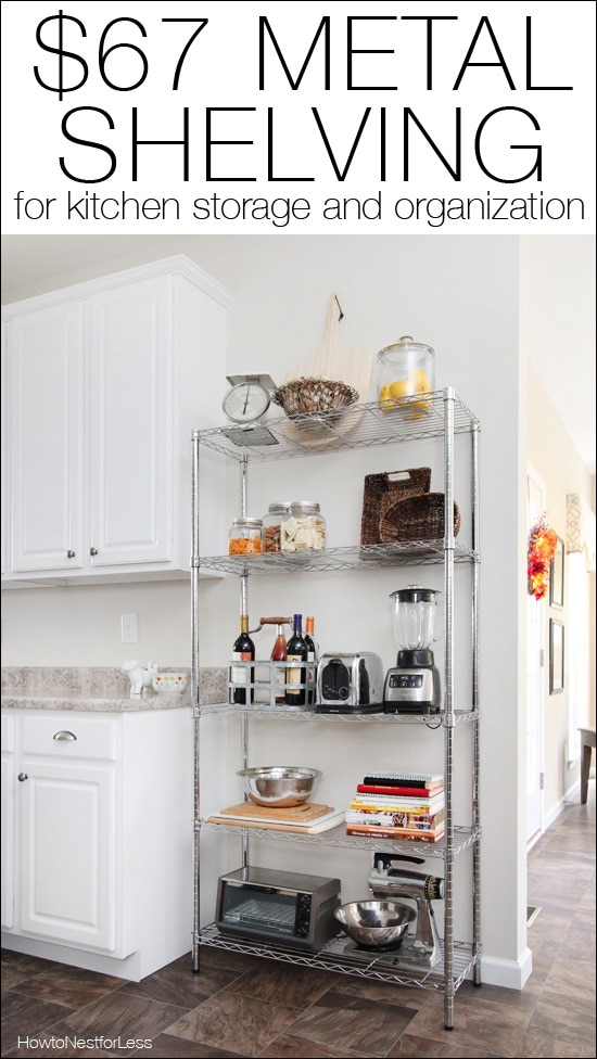 kitchen shelving unit