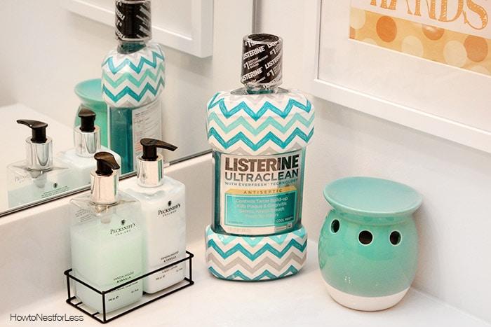 listerine chevron bathroom printables