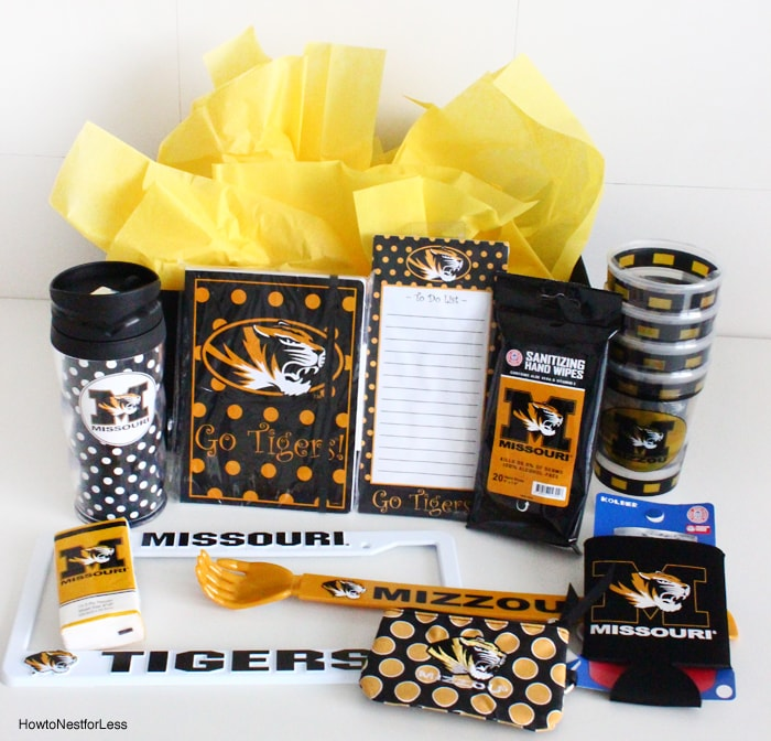 mizzou football gift basket