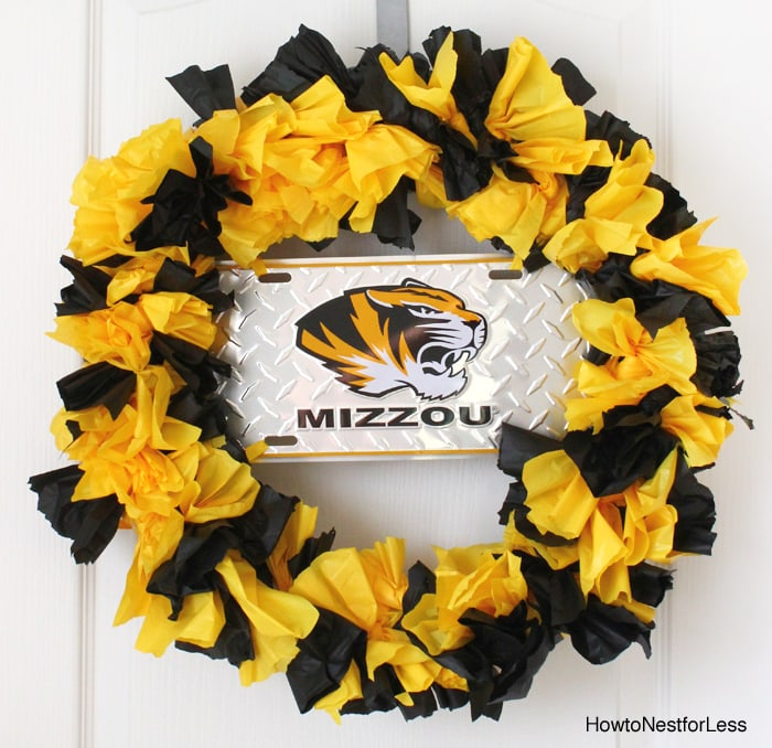 mizzou wreath