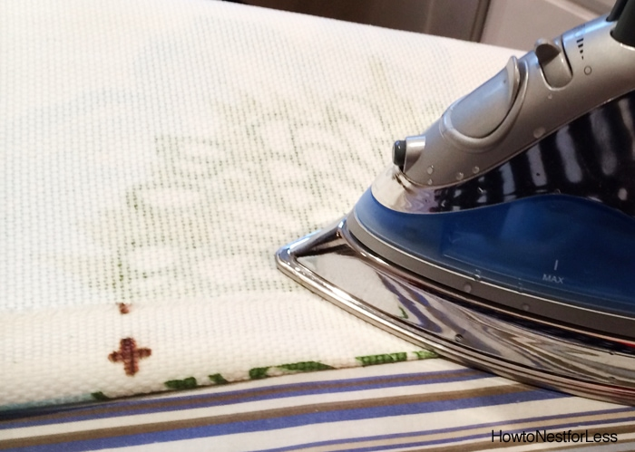 no sew curtains for craft room