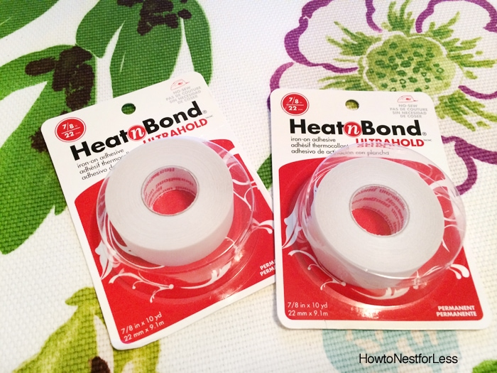 no sew curtains with heat bond