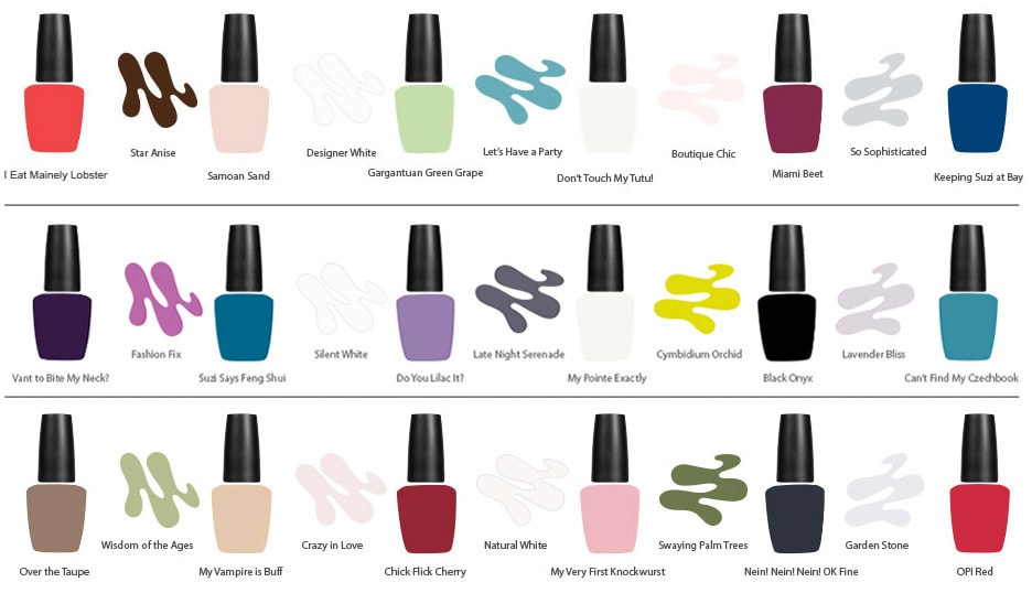 opi palette colors