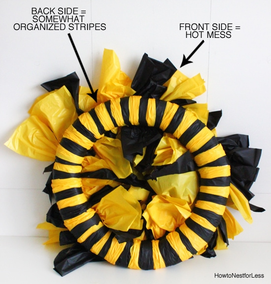 plastic tablecloth wreath