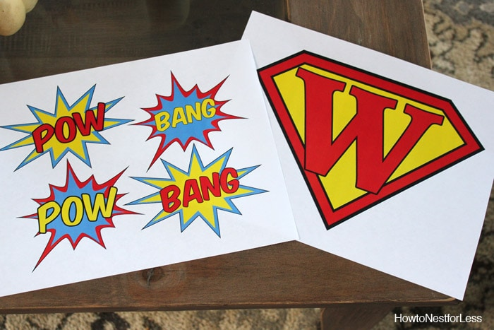 superhero graphics for toy box