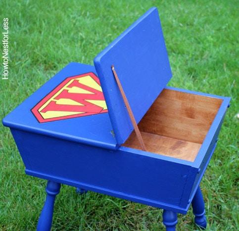 superhero painted toy box