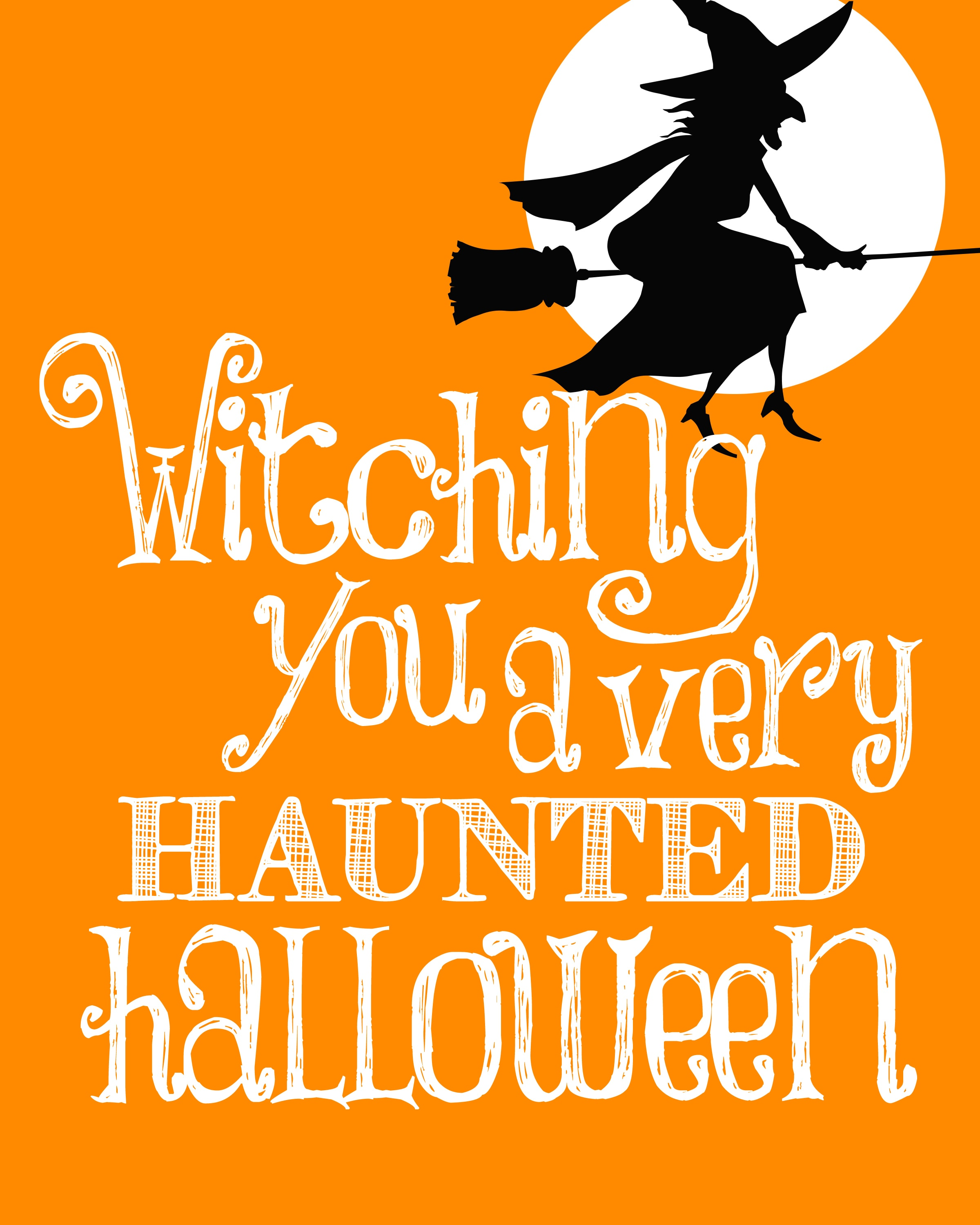 Halloween witch free printable