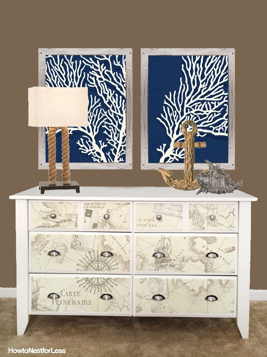 beach themed dresser
