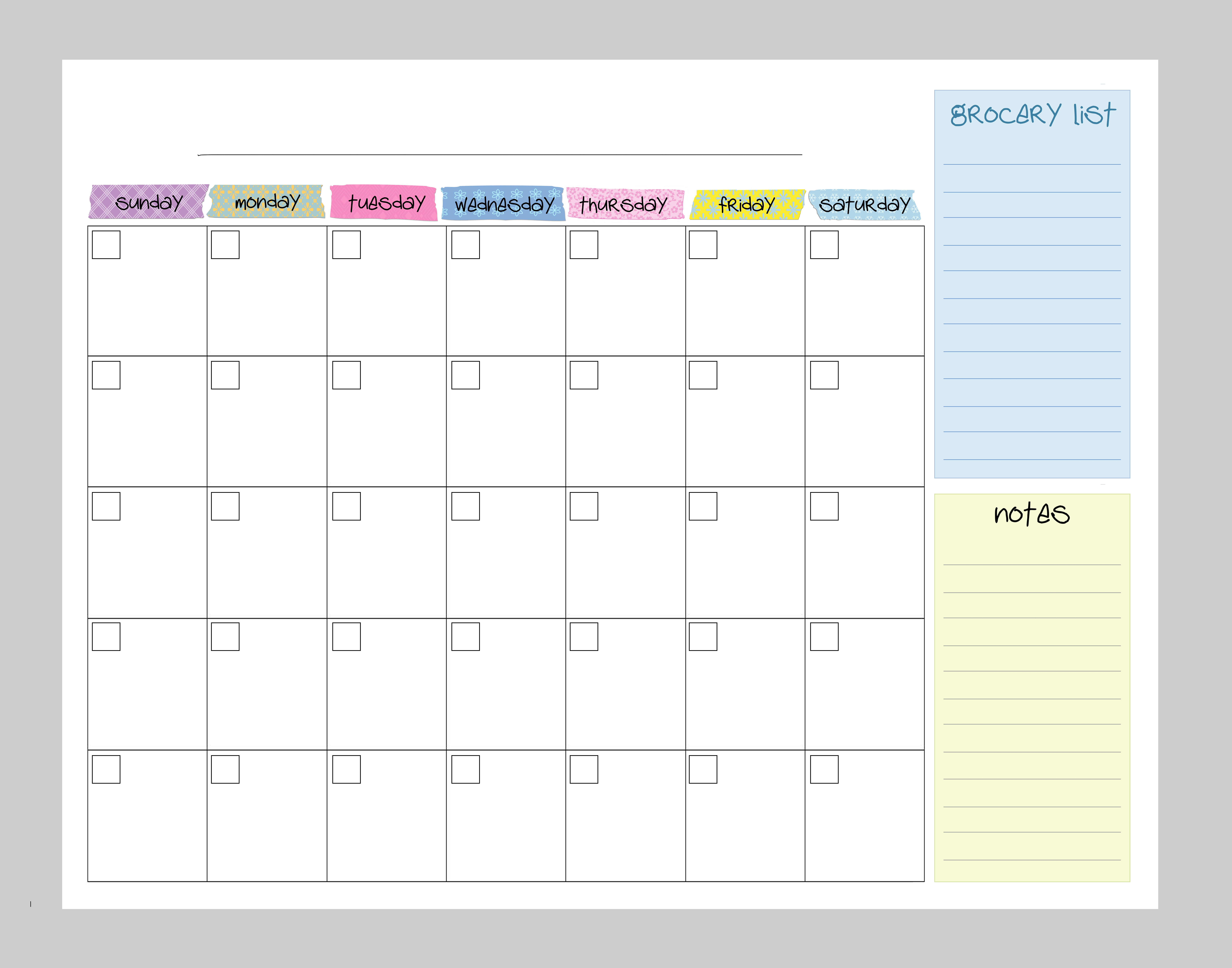 Calendar Board Printables : Kitchen command center how to nest for less™