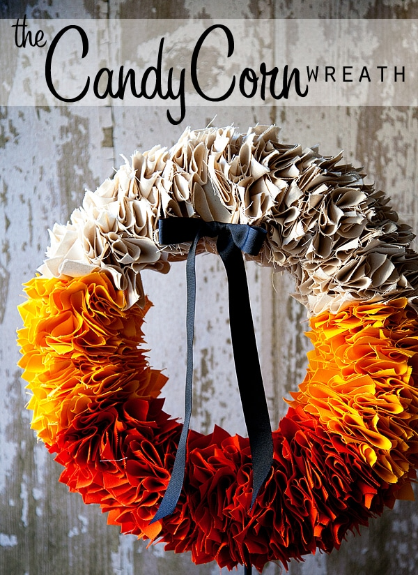 candy corn wreath & Get Inspired: 15 Candy Corn Projects - How to Nest for Less™