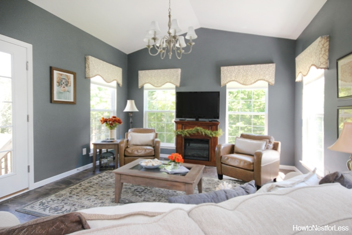 charcoal and neutral sun room