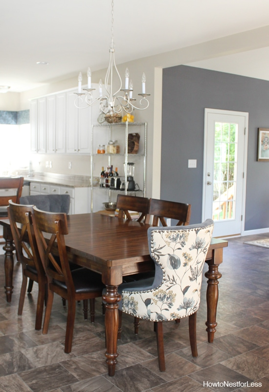 charcoal gray breakfast room paint
