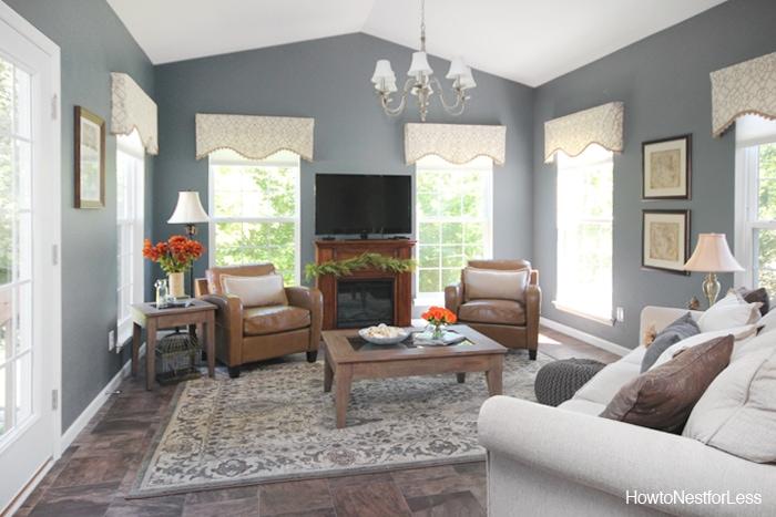 charcoal gray sun room