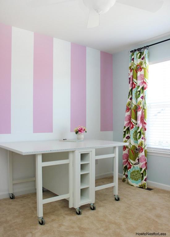 Craft Room Striped Wall