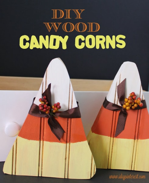 diy wood candy corns