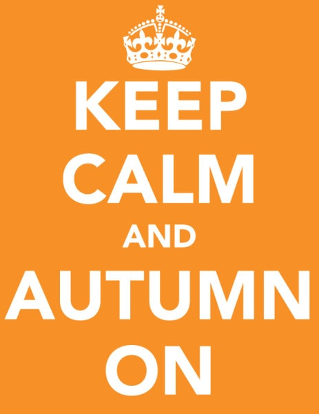 fall keep calm printable