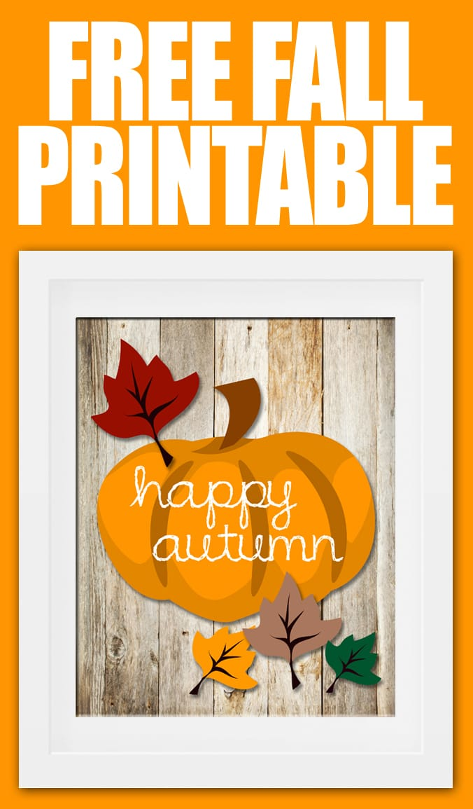 Happy Autumn FREE Printable!  How to Nest for Less™