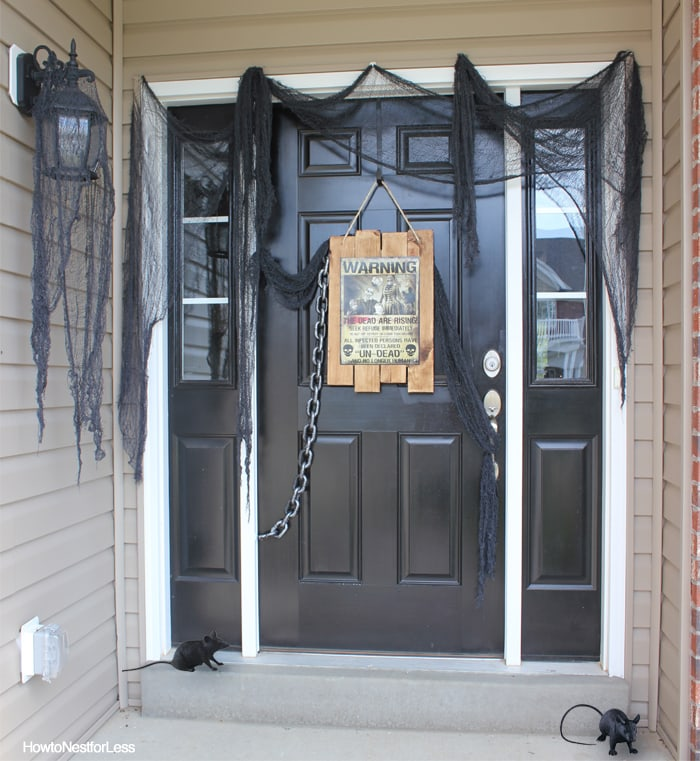 halloween zombie front porch