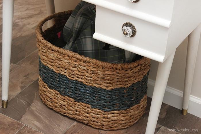 kitchen landing center basket