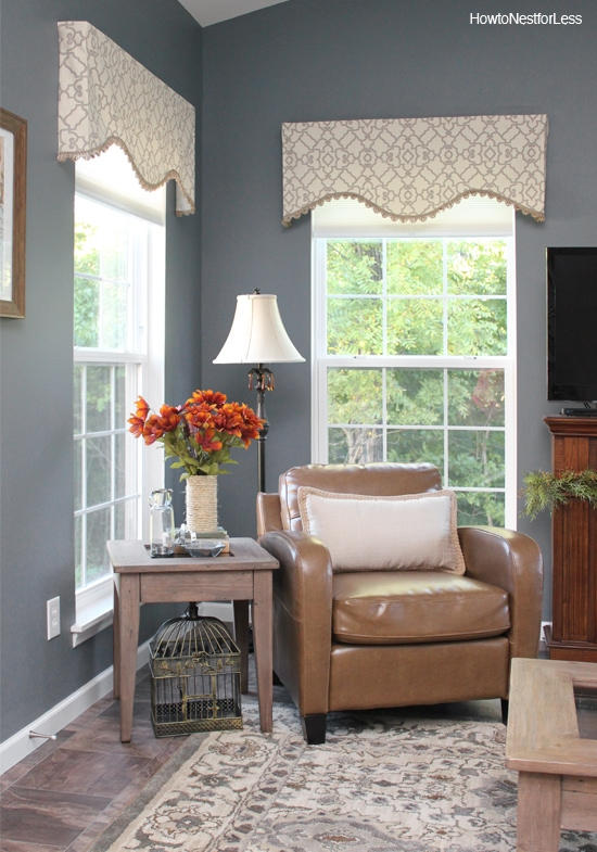 Charcoal gray sun room how to nest for less for Gray stone paint color