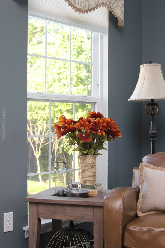sun room dark blue paint color