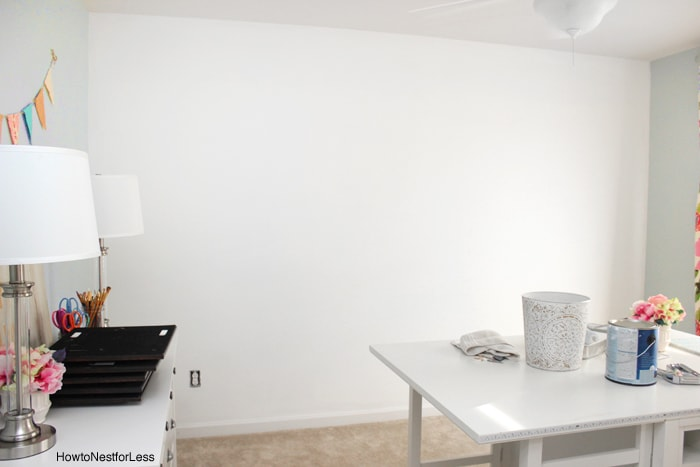 white wall craft room