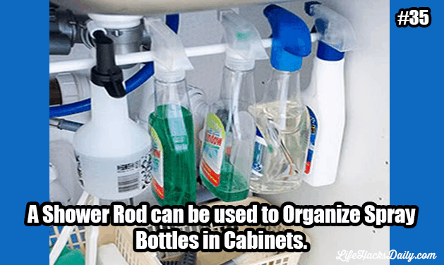 Life-Hacks_Shower-Rod-to-organize-Spray-Bottles