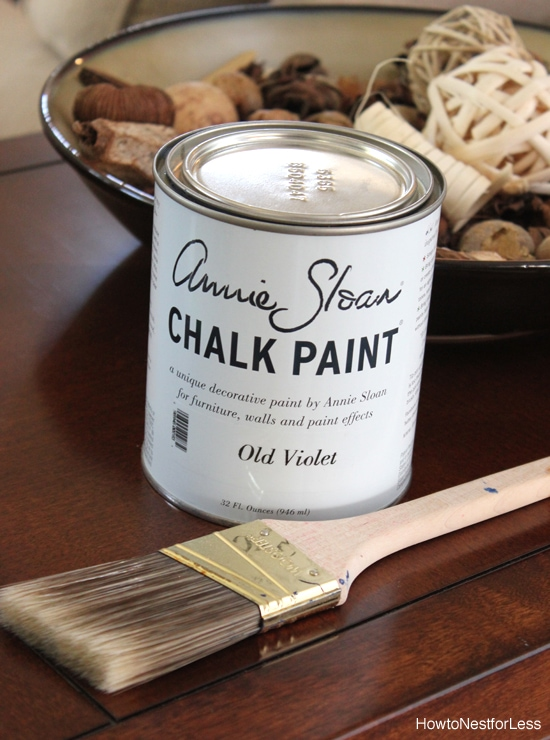 chalk paint annie sloan old violet