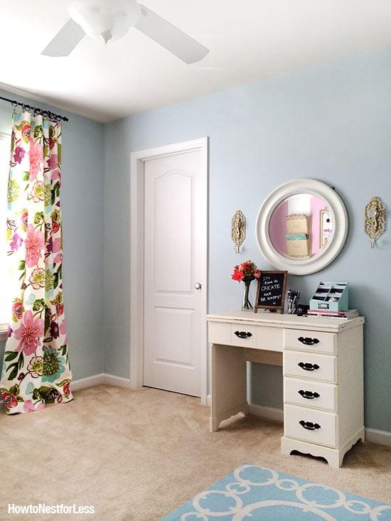 craft room makeover sewing desk