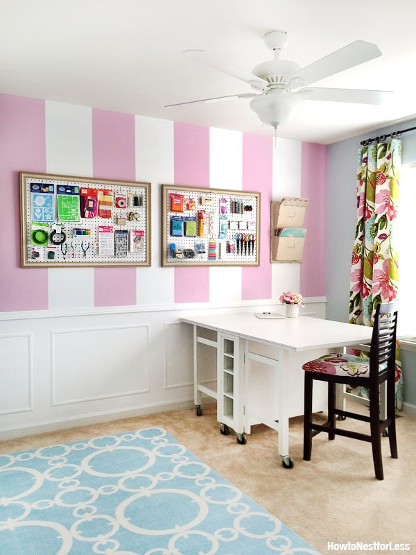 craft room makeover with craft table