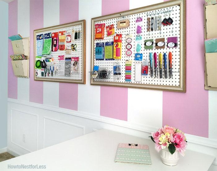 craft room peg boards