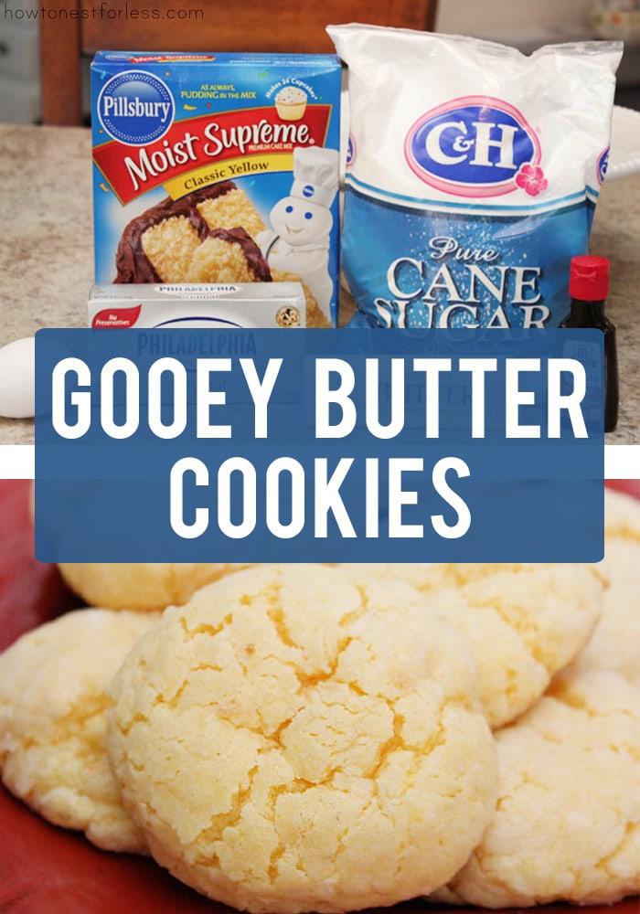 Gooey Butter Cookies Recipe poster.