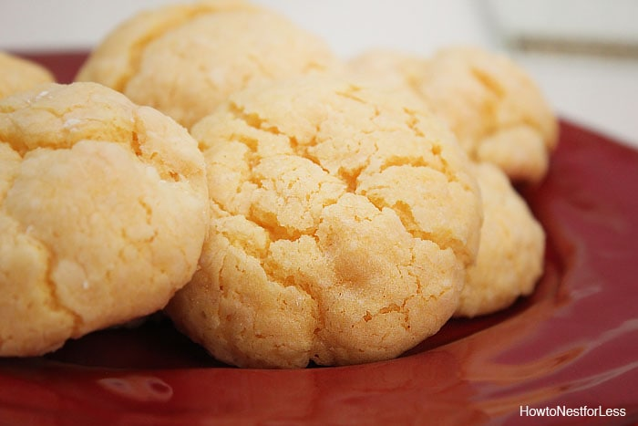 The ooey gooey cookies baked on a plate.