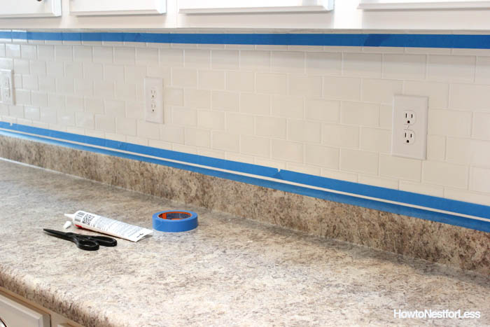 how to caulk with painters tape