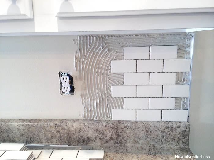 How to install a kitchen backsplash how to nest for less - How to replace backsplash ...