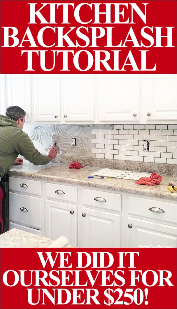 How To Install A Kitchen Backsplash The Best And Easiest Tutorial Inspiration Backsplash Installer Set